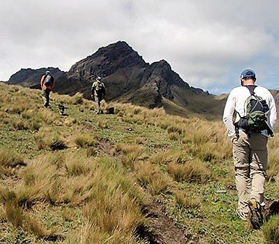 Hiking Ruminahui
